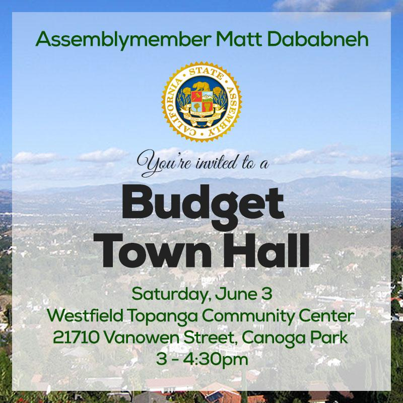 Budget Town Hall Announcement