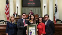 ASSEMBLYMEMBER JESSE GABRIEL HONORS MICHELLE FUENTES-MIRANDA AS WOMAN OF THE YEAR FOR THE WEST SAN FERNANDO VALLEY